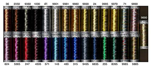 shade card 29 beautiful colors 250 yd reels - Gutermann Thread Color Chart